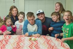 Birthday Pie (aaronrhawkins) Tags: birthday pie candle seventeen celebration party jackson jonathan cheer family gathering teenager smiles aaronhawkins