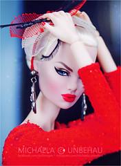 Karolin (Michaela Unbehau Photography) Tags: karolin stone jumpsuit headpiece natasha grabar fashion royalty fr nuface fr2 blonde red michaela unbehau fashiondoll doll dolls photography mannequin model mode puppe fotografie