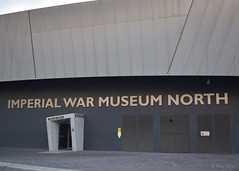 Imperial War Museum North (PGview) Tags: clouds sky metal door words concrete museum uk england north warmuseum imperialwarmuseum imperialwarmuseumnorth salford salfordquays stretford manchester northbay mediacityuk thequays daniellibeskind libeskind bbcnorthwesttonight northwest entrance