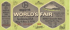 Expo '74 Adult Grounds Admission Ticket (2) (The Cardboard America Archives) Tags: 1974 worldsfair spokane washington expo74 vintage
