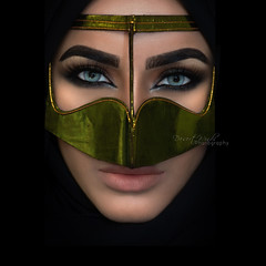 Reign (DesertWindsPhotography) Tags: jewelry makeup art blue gold red india arab arabic uae qatar saudi arabia black colorful morocco fabric hijab green women portrait indoor bright background bedouin desert eyes culture batoola