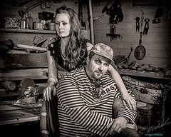 Hopeless (Seppo Hinkula) Tags: hopeless portrait woman man sad sadness museum fine art depression prisoner