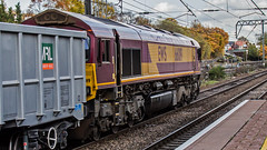 66019 (JOHN BRACE) Tags: 1998 gmemd london canada built co class 66 loco 66019 seen ealing broadway english welsh scottish livery 1104 oxford banbury road acton tc passing 1325