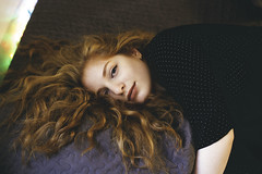 (aprilneverend) Tags: redhead redhair canon6d canoneos6d 50mm 50mmf14 f14 bed home dreamy fade