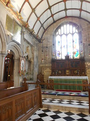 Photo of St. Neot Church, Cornwall. Chancel & altar.