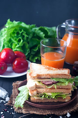 club sandwiches on wood background (lyule4ik) Tags: sandwich breakfast healthy grilled menu background club wood dark lettuce bun green snack gourmet dinner cuisine bread board food delicious chicken tomato bacon ham lunch fresh meat turkey diet meals toast wooden health restaurant cheese sliced salad meal mayonnaise plate white ingredient american cooked toasted slice crispy burger
