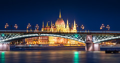 _MG_7985_web - The Hungarian Parliament and Magrit Bridge (AlexDROP) Tags: 2016 hungary budapest travel architecture colour city urban light night scape skyline water bridge canon6d ef241054lis best iconic famous mustsee picturesque postcard hdr pano