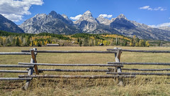 Rail Fence (LG G4) (Jeffrey Sullivan) Tags: travel lg g4 mobile phone camera images smartphone cellphone california usa photo copyright 2015 jeff sullivan september road trip grand teton national park wyoming split rail fence