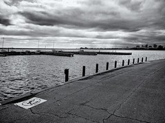 Light (ancientlives) Tags: chicago illinois usa lake lakemichigan lakefronttrail lakeshore blackandwhite bw mono monochrome boats yachtclub november autumn 2016 walking streetphotography landscape