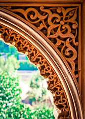 Cadre au monde (campra) Tags: spain arch alhambra granada