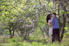 (Ole Lukoie) Tags: park flowers trees light portrait green beauty spring couple faces smiles kazakhstan lovestory inlove   aktau