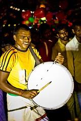 Sweat it, Beat it (skvsree) Tags: canon 50mm drum sweat beat bengaluru t2i skvsree