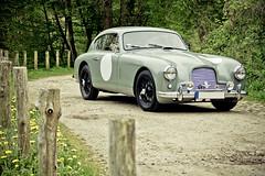 Vintage racer (Arnaud Velter) Tags: brown david green art classic cars nature car race canon vintage matt eos paint martin automotive racing 50s trim aston arnaud lagonda mark1 db2 mk1 db24 550d velter