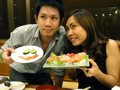 Posing With Plates of Sea Food (jstravelchannel) Tags: travel food seafood dining asianfood delicacy asiancuisine exoticfood