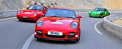 Porsche 959 / Porsche 911 Turbo / Porsche Carrera 2.7 RS (Van Loock Photography) Tags: happy 911 racing few turbo porsche 27 rs rallye carrera priv 997 959