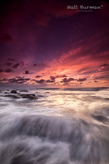 RUN!!! (matt burman) Tags: ocean longexposure sunset sea seascape water sunrise landscape dawn rocks dusk sydney australia nsw longreef nmattburman