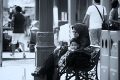 A Mother's Love (Shutter wide shut) Tags: street people bw mom mother mama mothersday nanay humanlife canonef70200mmf4lisusm canoneos7d
