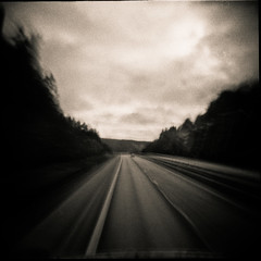 to Boras (bildministeriet) Tags: bw 120 6x6 mediumformat diy highway accidents motionblur holga120n trix400 bulbsetting bollebygd scannedascolor riksvg40 swedishnationalroad40