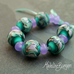 """Wig Wag beads teal and lavender • <a style=""""font-size:0.8em;"""" href=""""https://www.flickr.com/photos/37516896@N05/7413252898/"""" target=""""_blank"""">View on Flickr</a>"""