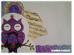 card owls envelope (Kamina Parana) Tags: scrapbooking napkin mother karte card owl selfmade mutter scrap papier handcraft selbstgemacht serviette eule muttertag handarbeit mothersday napkintechniqueserviettentechnik