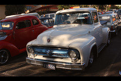 1956 Ford F100 (Michelle ~ BLACKY ~ CHAMPAZ'S PHOTOS..) Tags: cars ford pickup f100 ute rockabilly rocknroll hotrods customs psychobilly kustomkulture worldcars 1956fordf100 ferntreegullyhotel 56f100 kustomkulturemeltdown