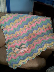 Christina Lambert (The Crochet Crowd) Tags: ripple crochet mikey yarn blanket afghan april redheart chevron challenge freepattern 2013 freecrochetpattern thecrochetcrowd oceanoceanwavesafghan