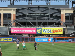 Citi Field, 05/16/13: zoom-lens look at the Shea Bridge and Bridge Terrace seating as seen from the third base warning track (IMG_0866) (Gary Dunaier) Tags: newyorkcity baseball stadiums queens mets queensborough newyorkmets queensboro ballparks flushing stadia queenscounty citifield