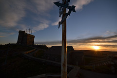 St. John's, Signal Hill. Directions everywhere (SvenBergstrm) Tags: sunset canada clouds newfoundland sunsets stjohns signalhill cannons