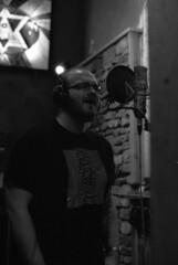 Final Clearance recording at The Lodge studio, Northampton, May 2013 (OG47) Tags: musician music film blackwhite band ilford recording recordingstudio finalclearance pentaxprograma ilforddelta3200asa thelodgerecordingstudio