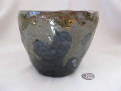 Splash bowl, lesser gloop (mikkashar) Tags: ceramic waterdrop crafts bowl clay pottery coilbuilt darkstoneware madebymikkashar