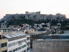 102 - Acropolis from roof top (Scott Shetrone) Tags: other events places athens parthenon greece monuments acropolis 5th anniversaries