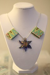 Starfish and Books Necklace (glassmap) Tags: green book necklace starfish books jewelry bookjewelry
