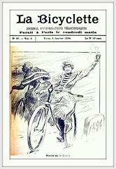 1894 January 5, Paris - Cover - La Bicyclette - 'Nouvel an (de Loevy)'  [Out with the old, and in with the NEW YEAR ! by Loevy] (carlylehold) Tags: bicycle la tricycle cycle bicyclette 1894 loevy