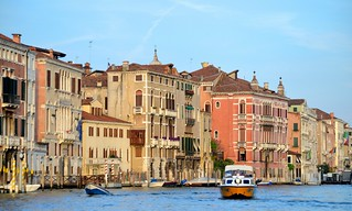 afternoon sun on Grand Canal, Venice