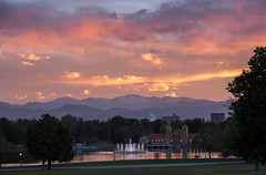 Mt Evans sunset (Kevin Bauman) Tags: sunset mountain mountains clouds landscape landscapes colorado denver alpine rockymountains frontrange citypark mountevans mtevans