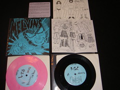 melvins oven pink and black (test press??) with paper dolls (old ernie) Tags: