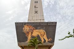 Dakar memorial (jbdodane) Tags: africa bicycle cycling senegal dakar velo day202 obelisque cyclotourisme cycletouring freewheelycom