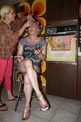 May 2013 (Patrice Bailey) Tags: kitchen tv toes legs sandals cd crossdressing smoking tgirl transgender nails tranny sit blonde transvestite rollers crossdresser crossdress ts gurl tg curlers barelegs tgurl