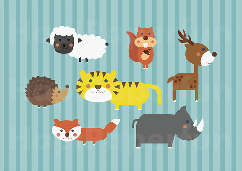 MD008 - Clipart - Animals for Babies 2