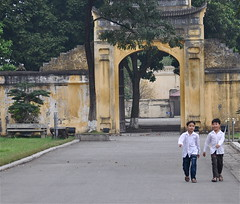 Enjoying History (The Spirit of the World) Tags: asia southeastasia unescoworldheritagesite vietnam hanoi autofocus historicalsites schoolboys thecitadel historyofvietnam rememberthatmomentlevel1 wallsofthecitadel sitestoseeinhanoi sitestoseeinvietnam