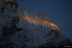 Evening light falls on the wall of Mt. Bhrigupanth (Bharat Baswani) Tags: mt kedar kharak kedartal bhrigupanth