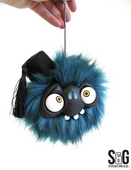 bubu head (Stitches and Glue) Tags: monster heads bouncing cutemonsters monsterworkshop paulvincett stitchesandglue