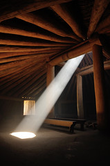 Beam of Light (J-Fish) Tags: indian nativeamerican northdakota mandan lightbeam onaslantindianvillage d300s 1685mmf3556gvr 1685mmvr fortabrahamlincolnstatepark