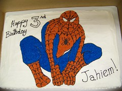 Spiderman Birthday Cake (Bake A Wish) Tags: cake march character spiderman 2013