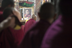 Dala Lama - Tikse - Ladakh - India - Sylvain Brajeul  (Sylvain Brajeul) Tags: india photo asia monk buddhism bouddha monastery asie meditation himalaya puja dalailama ladakh inde gompa moine tikse dalalama travelphotographer sylvainbrajeul