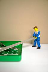 Loading (@Dave) Tags: green lego file diamond technic blacks tray minifigs deb burr podiatry nippers d600