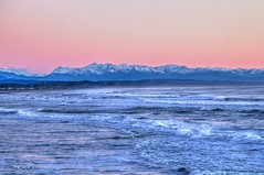 West Coast Sunset (> Russ<) Tags: ocean sunset newzealand mountains alps beach southisland tasmansea southernalps canon600d