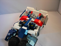 Weapons prepped (lost_scotsman) Tags: marine lego space scifi vehicle warthog tumbler
