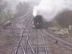Oliver Cromwell Brockelsby 2012 (coolowb) Tags: train oliver railway steam locomotive tours cromwell brittania mainline