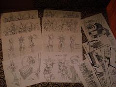 Yu-Gi-Oh settei lot (BrokenLV) Tags: art kingdom animation duel production monsters yami yugioh yuugi yugi atem yuugiou duelist atemu settei